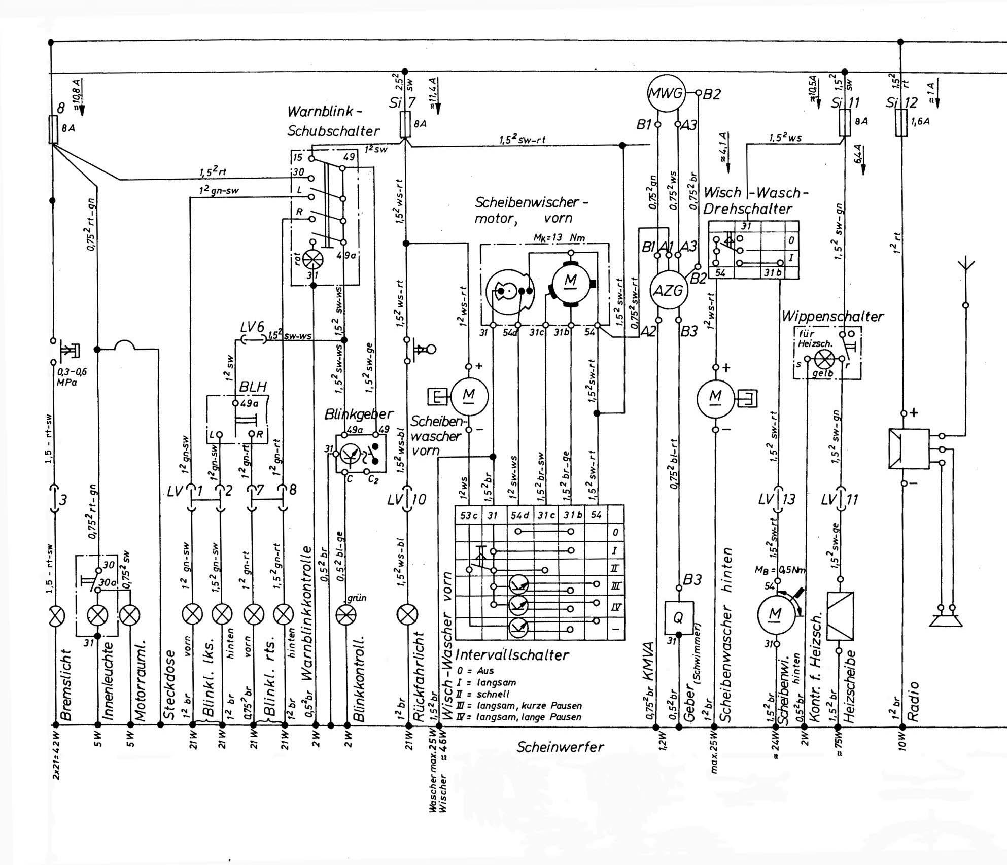 Scheibenwischer Verkabeln und andere Kabelfragen... - Technik ...