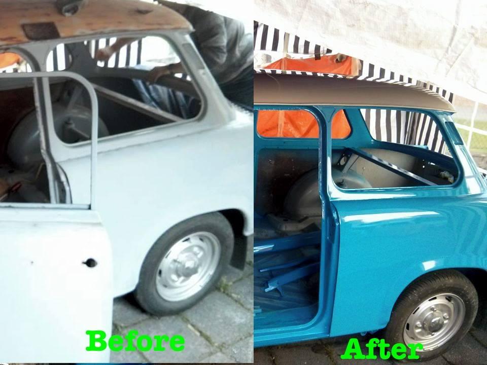 abgeschliffen und neu lackiert trabant 601 neulackierung. Black Bedroom Furniture Sets. Home Design Ideas