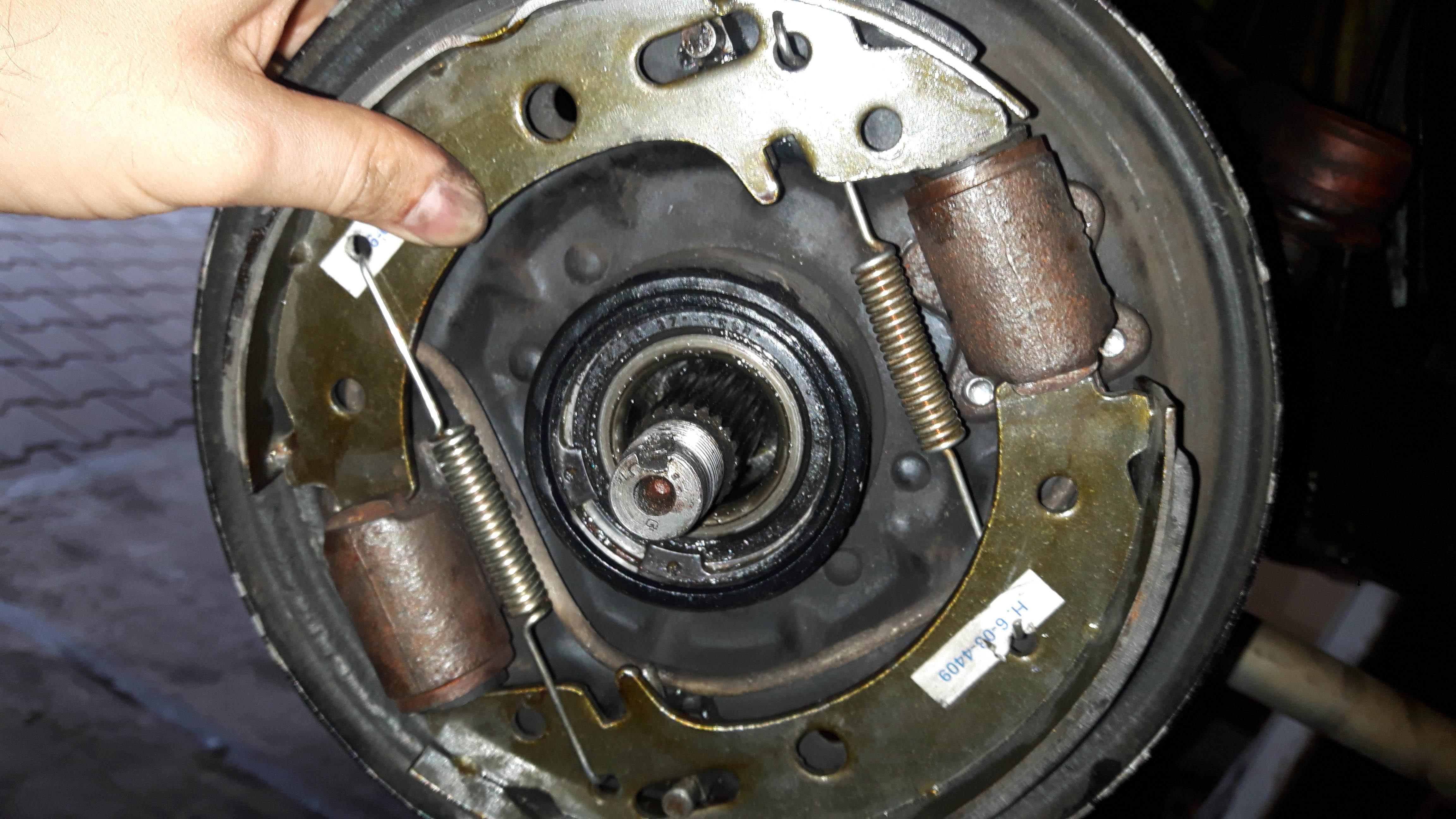 Bremsbacken Satz Bremse hinten Trabant P 1.1